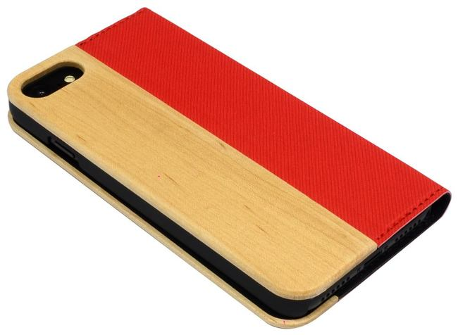 Maple Red Leather Wood iPhone 8 & 7 Case