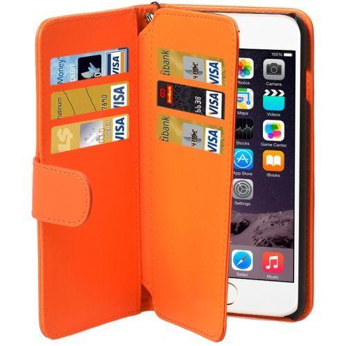 Orange Wallet Leather iPhone 6 & 6S Case