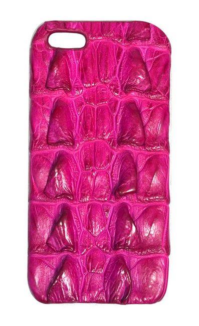 Pink Genuine Crocodile Skin Leather iPhone 5, 5S & SE Case