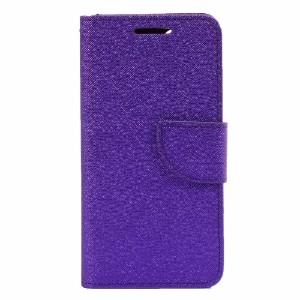Purple Cross Texture Leather Wallet iPhone 8 & 7 Case