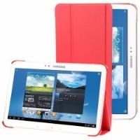 Red 3-Folding Leather Samsung Galaxy Tab 4 10.1 Case