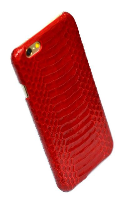 Red Genuine Python Snake Skin Leather iPhone 6 & 6S Case