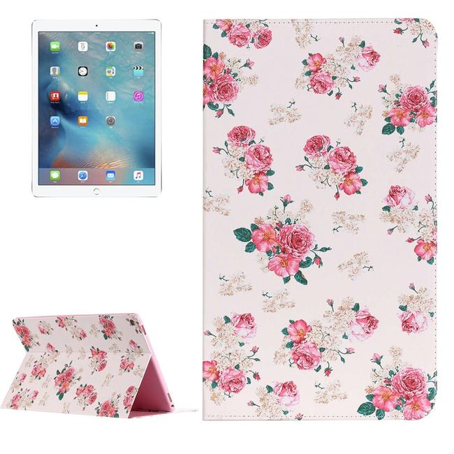 Rose Painting Leather iPad Pro 12.9 Inch Case