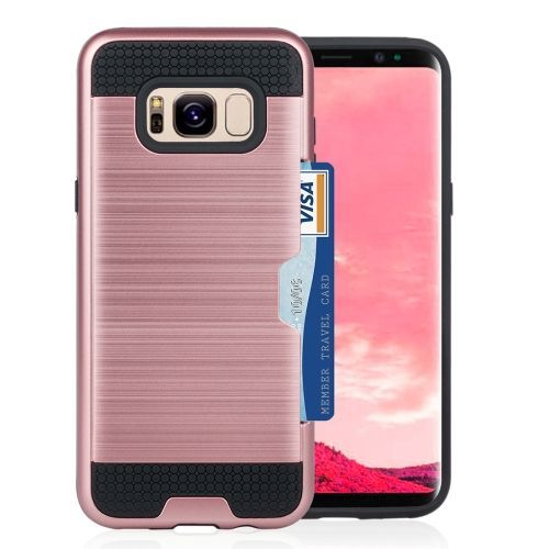 Rose Gold Strong Card Slot Samsung Galaxy S8 Case