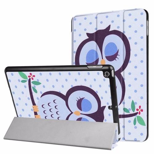 Sleepy Owl 3-fold Leather iPad 2017 9.7-inch Case