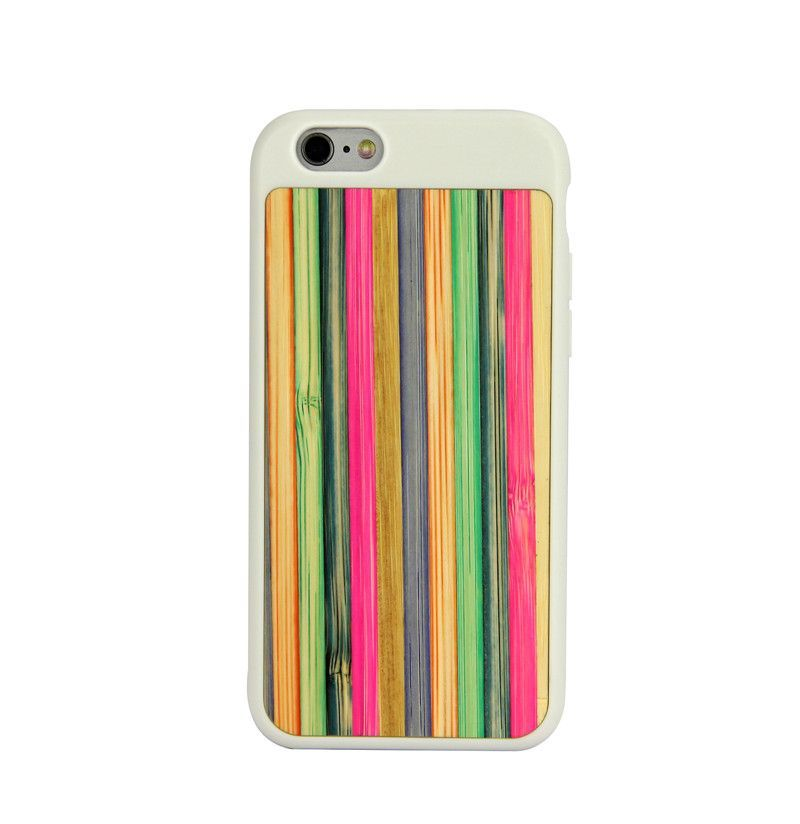 White Bamboo Rainbow Wooden iPhone 6 & 6S Case