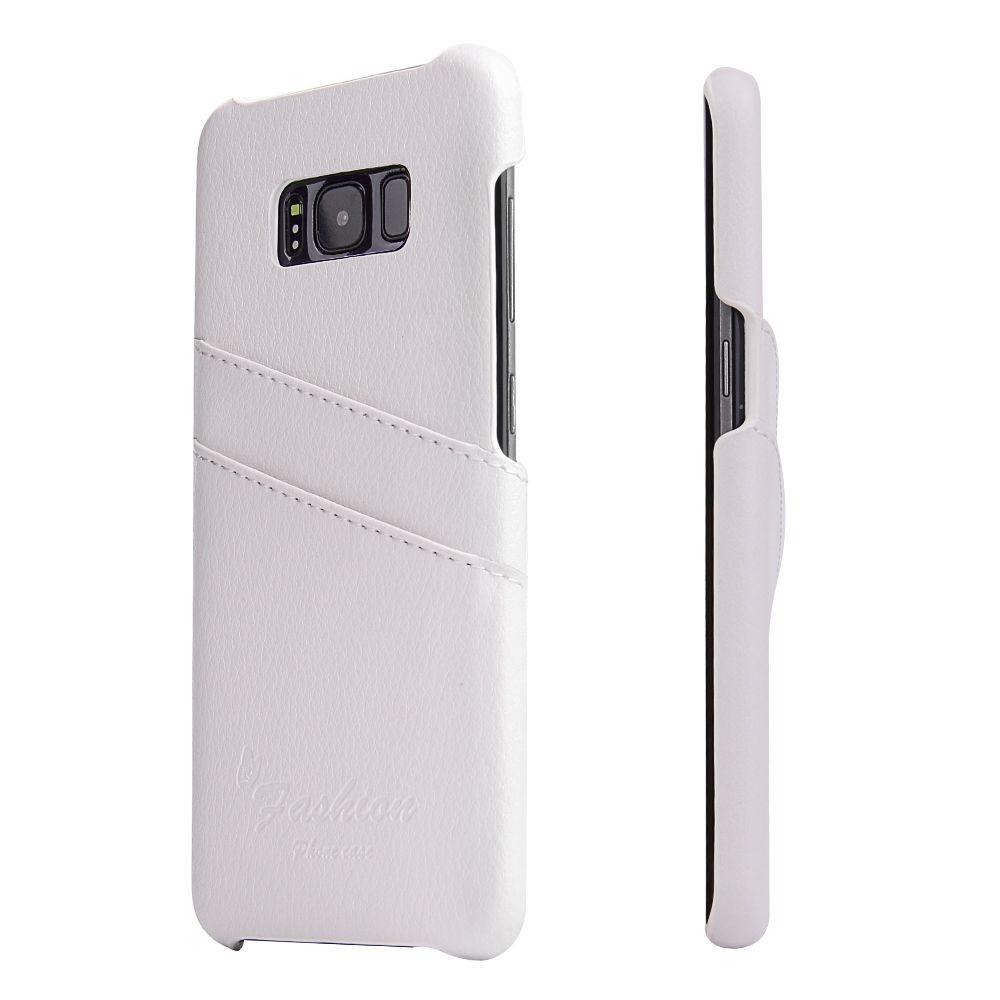 White Handmade Genuine Leather Fashion Samsung Galaxy S8 Case