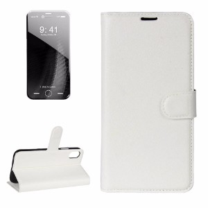 White Litchi Texture Wallet Leather iPhone 8 Case