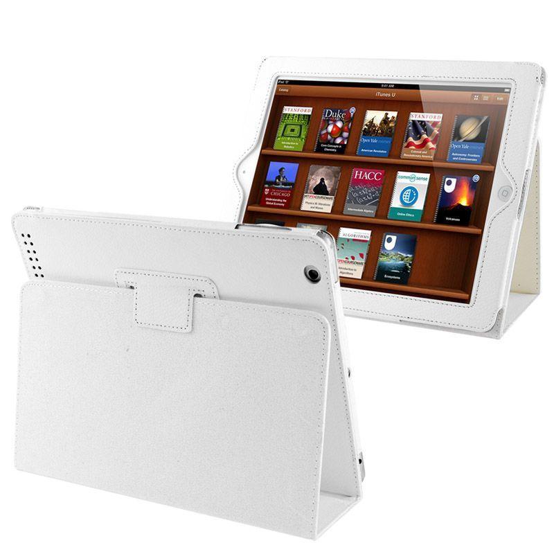 White Lychee Leather iPad 2/3/4 Case