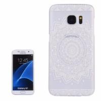 White Mandala Transparent Samsung Galaxy S7 Case